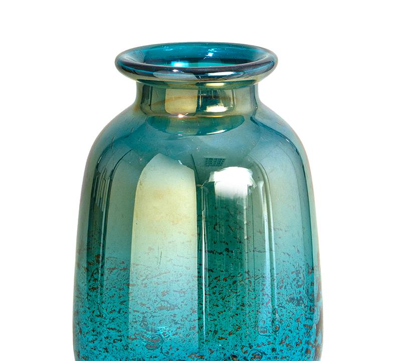 Γυάλινο χειροποίητο βάζο πετρόλ με ειδική υάλωση ΔΙΑΜΕΤΡ. 20,5-ΥΨ. 29,5cm