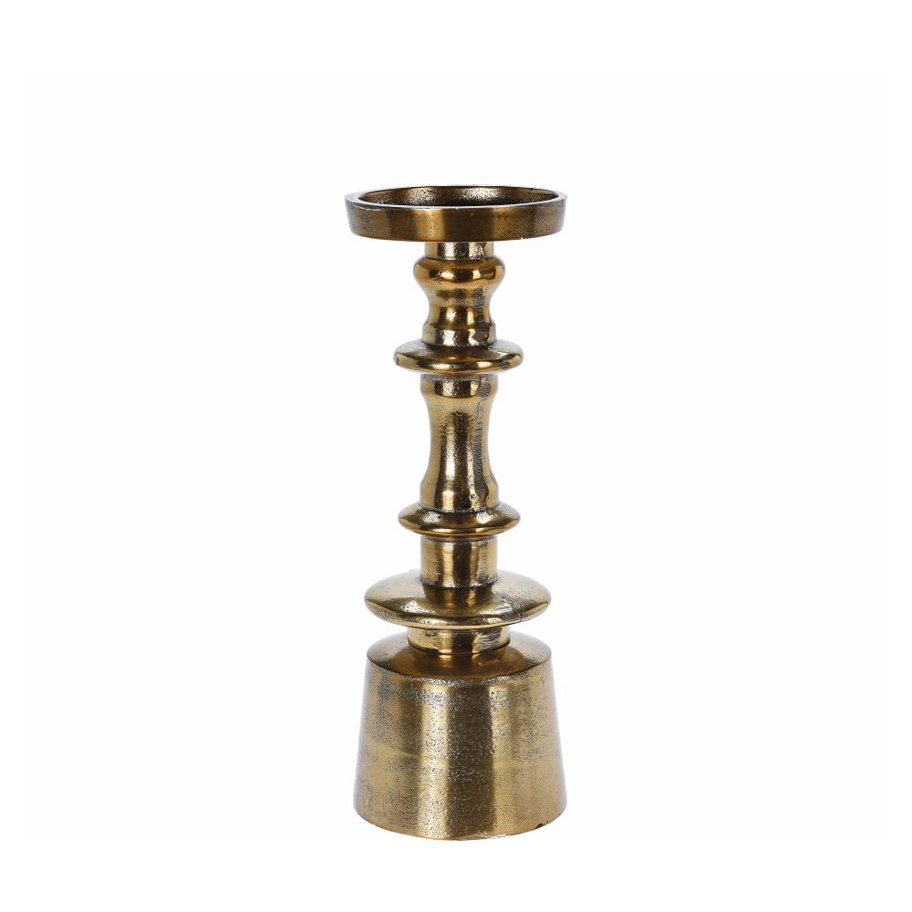 Κηροπήγιο αλουμινίου, μπρονζέ χρ., 25,5cm