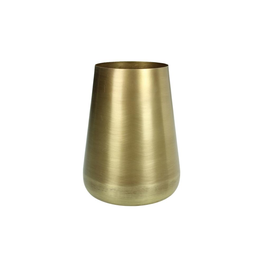 Μικρό μεταλικό βάζο σε ματ χρυσό χρ., 11.5x15cm